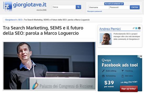 Intervista a Marco Loguercio