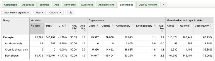 Report SEO e PPC in Adwords